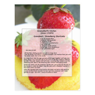 Strawberry Shortcake Postcard
