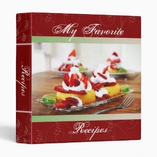 Strawberry Shortcake Recipe Book Binder
