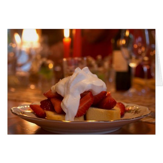 Strawberry Shortcake With Whipcream Card