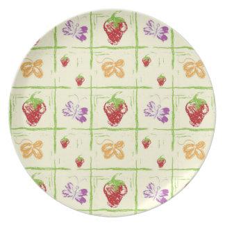 Strawberry Sketch Plates