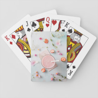 Strawberry smoothie poker deck
