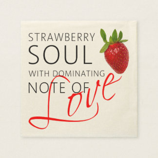 Strawberry Soul Paper Napkins