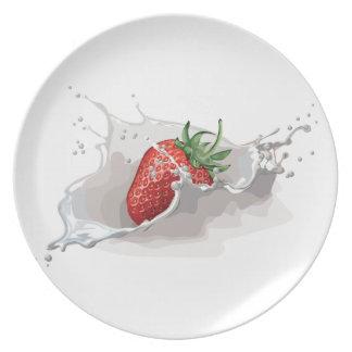 Strawberry Splash Plates