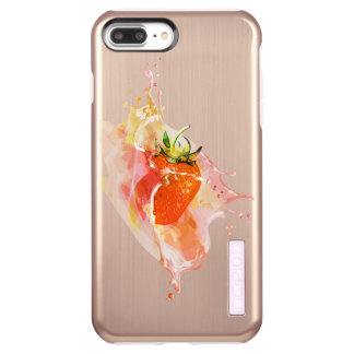 Strawberry Splash! Watercolor Incipio DualPro Shine iPhone 8 Plus/7 Plus Case
