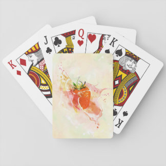 Strawberry Splash! Watercolor Playing Cards
