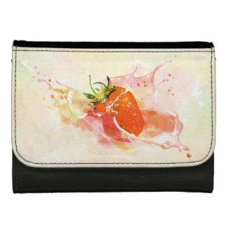 Strawberry Splash! Watercolor Women's Wallet