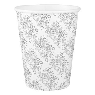 Strawberry Spray Line Art Design Paper Cup