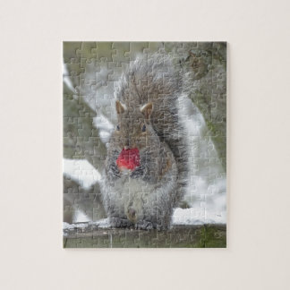 Strawberry squirrel jigsaw puzzle