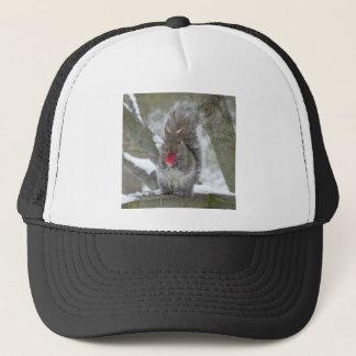 Strawberry squirrel trucker hat
