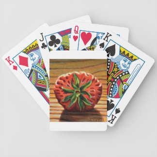 Strawberry Star Bicycle Playing Cards