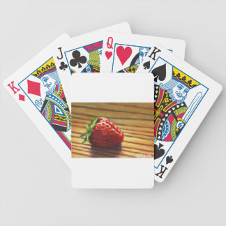 Strawberry Stripe Bicycle Playing Cards