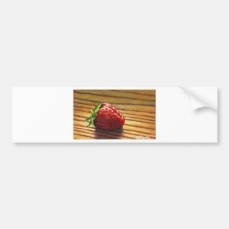 Strawberry Stripe Bumper Sticker
