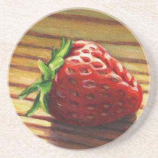 Strawberry Stripe Coaster
