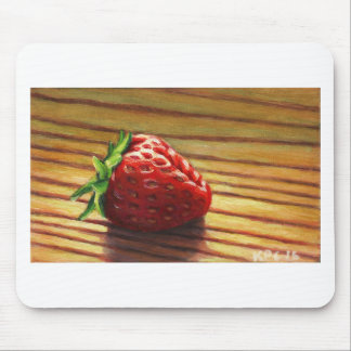 Strawberry Stripe Mouse Pad
