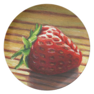 Strawberry Stripe Plate