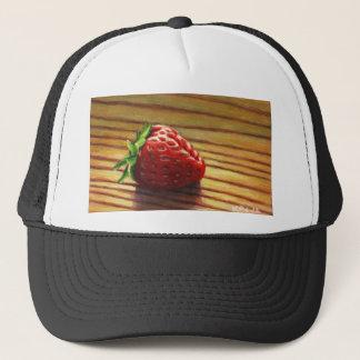 Strawberry Stripe Trucker Hat