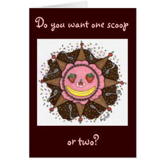 Strawberry Sun Days - Greeting card (chocolate)