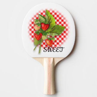 Strawberry Sweet Ping Pong Paddle