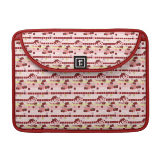 Strawberry Sweet Treats Pattern Sleeve For MacBooks