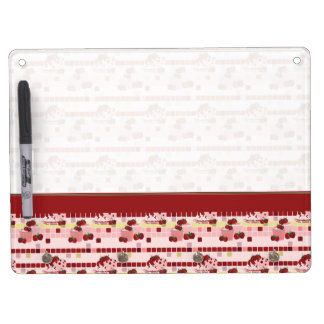 Strawberry Sweet Treats Pattern With Border Dry-Erase Whiteboards