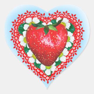 STRAWBERRY SWEETHEART VALENTINE'S DAY HEART STICKER