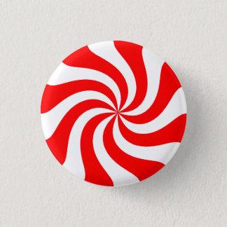 Strawberry Swirl Candy 1 Inch Round Button