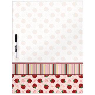 Strawberry Swirl Pattern With Border Dry-Erase Board
