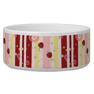 Strawberry Swirl Stripes Pattern