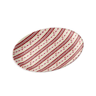 Strawberry Swirl Stripes Pattern Plate
