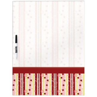 Strawberry Swirl Stripes Pattern With Border Dry-Erase Whiteboards
