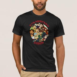 Strawberry Syrup Chibi Circle Dark Shirts