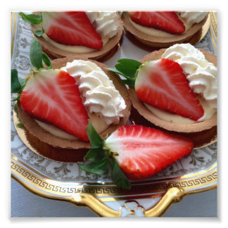 Strawberry Tart Photo Print