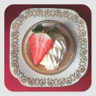 Strawberry Tart Red Velvet Sticker