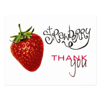 Strawberry Thank You Note Postcard
