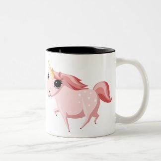 Strawberry the Pink Unicorn Two-Tone Coffee Mug