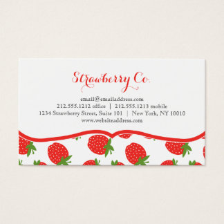 Strawberry Theme Business Cards