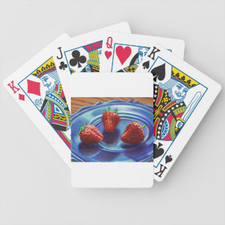 Strawberry Trio Bicycle Playing Cards