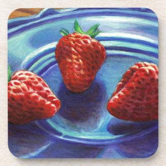 Strawberry Trio Coaster