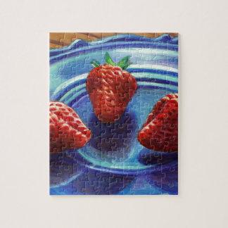 Strawberry Trio Jigsaw Puzzle