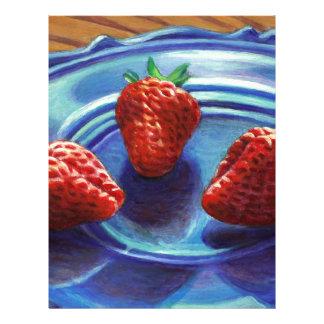 Strawberry Trio Letterhead
