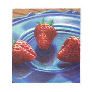 Strawberry Trio Notepad