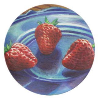 Strawberry Trio Plate