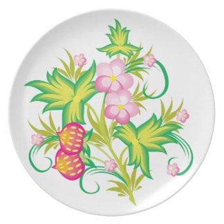 Strawberry Vignette Plate