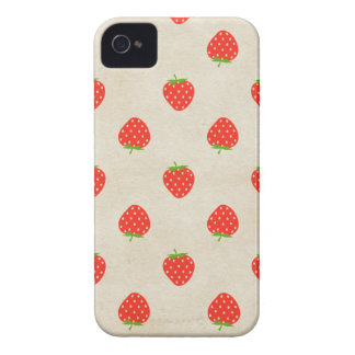 Strawberry Vintage Girly Rustic Strawberries Print iPhone 4 Cover