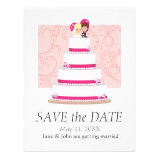 Strawberry Wedding Cake Full Colour Flyer