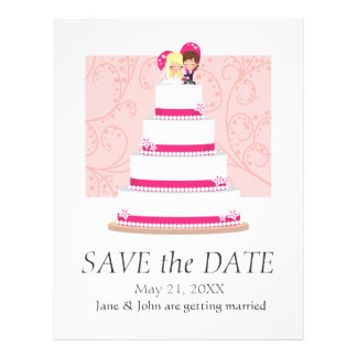 Strawberry Wedding Cake Full Colour Flyer