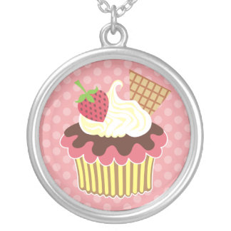 Strawberry & Whipped Cream Necklace