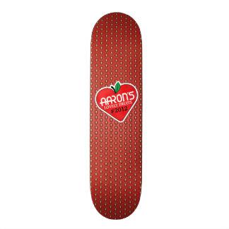 Strawberry with sticker custom skate board