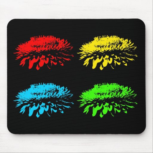 Strawflowers Collage Mousepad