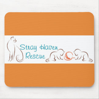 Stray Haven Orange Mousepad
